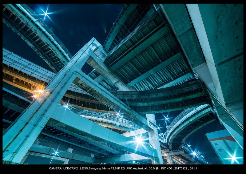 大阪北港ジャンクション夜景3-1.jpg