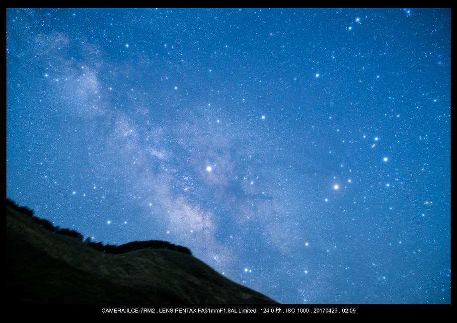 奈良の曽爾高原で天の川な星景を赤道儀ポラリエで0.jpg