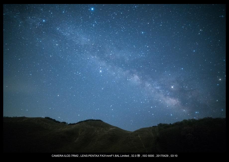 奈良の曽爾高原で天の川な星景を赤道儀ポラリエで12.jpg
