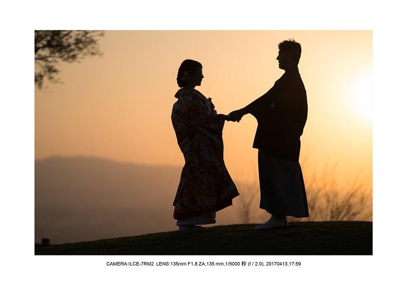 奈良絶景・若草山で鹿のシルエットと夕日夕陽10.jpg