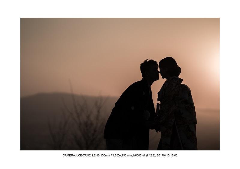 奈良絶景・若草山で鹿のシルエットと夕日夕陽13.jpg