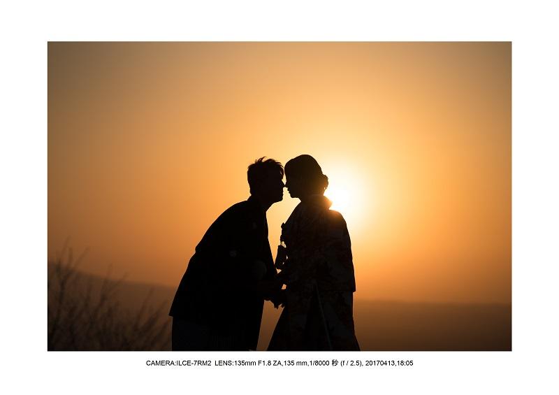 奈良絶景・若草山で鹿のシルエットと夕日夕陽14.jpg