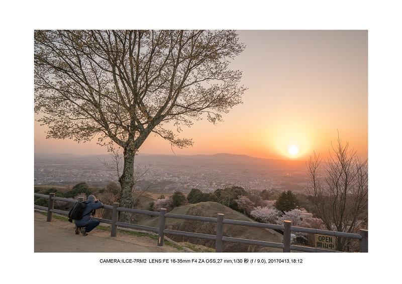 奈良絶景・若草山で鹿のシルエットと夕日夕陽18.jpg
