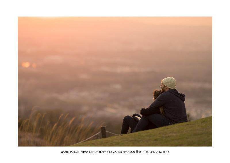 奈良絶景・若草山で鹿のシルエットと夕日夕陽19-1.jpg