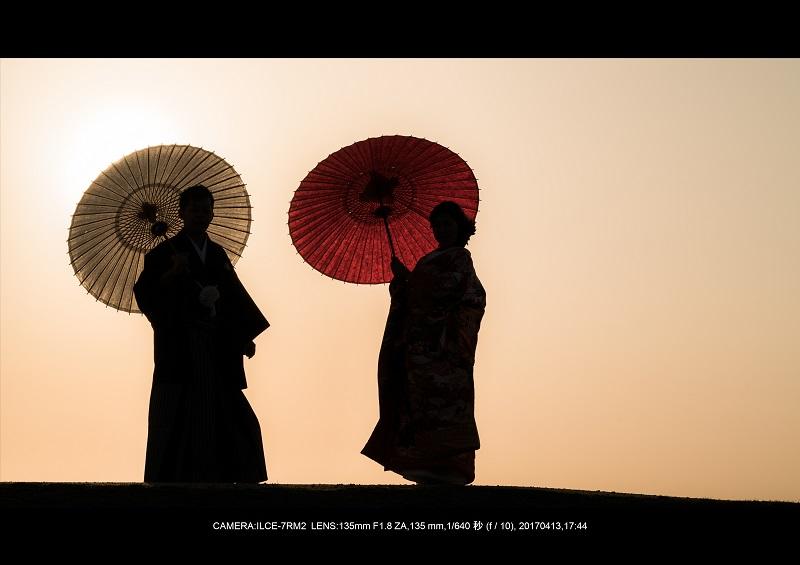 奈良絶景・若草山で鹿のシルエットと夕日夕陽2-0.jpg