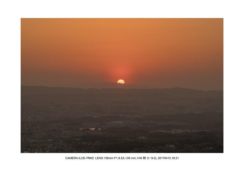 奈良絶景・若草山で鹿のシルエットと夕日夕陽21.jpg