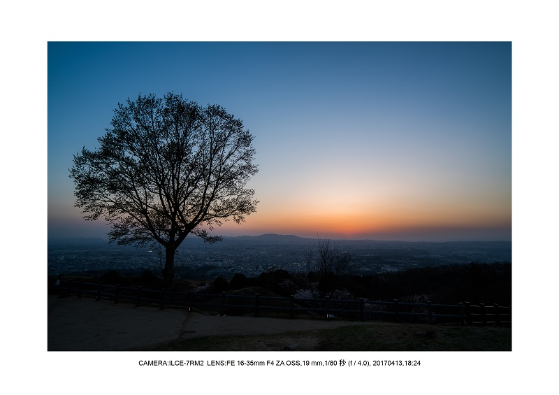奈良絶景・若草山で鹿のシルエットと夕日夕陽22.jpg