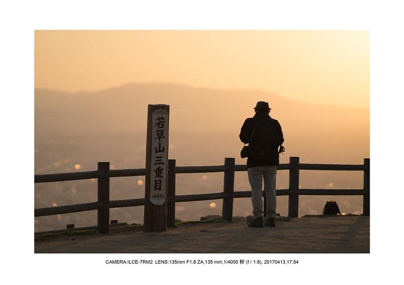 奈良絶景・若草山で鹿のシルエットと夕日夕陽6.jpg