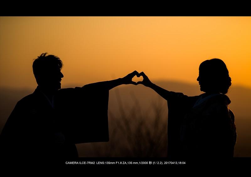 奈良絶景・若草山で鹿のシルエットと夕日夕陽9-0.jpg