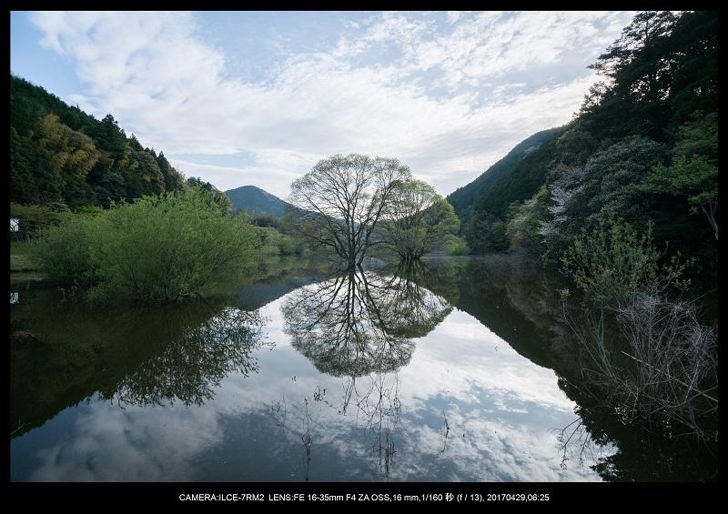 新緑の奈良・室生湖の鏡面シンメトリー11.jpg