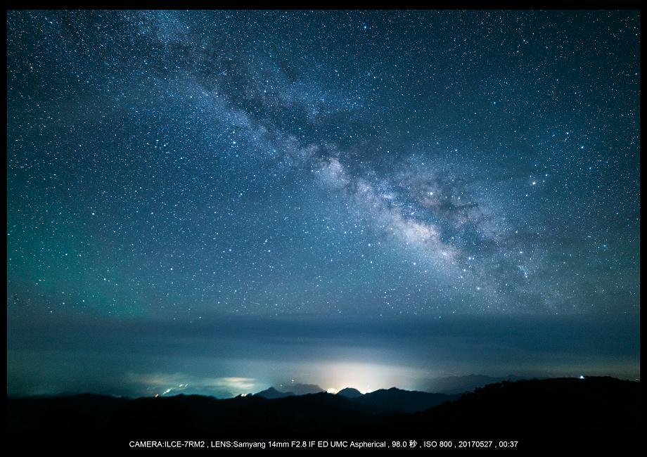 関西の星景スポット大台ケ原で星の風景撮影で天の川3.png