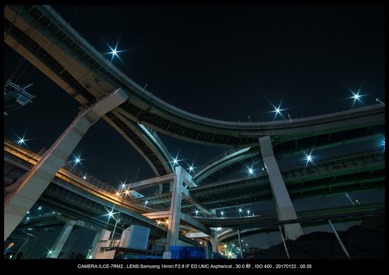 大阪北港ジャンクション夜景1.jpg