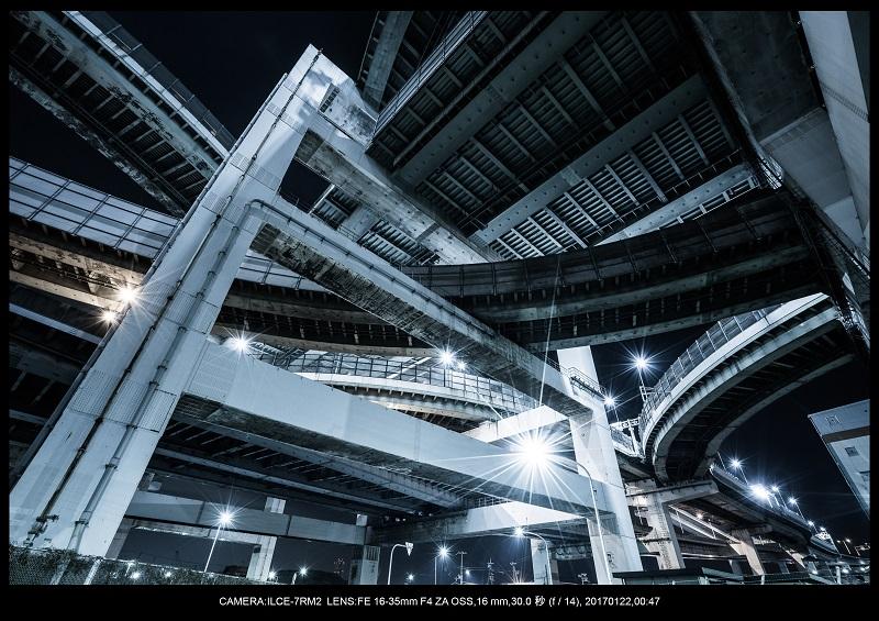 大阪北港ジャンクション夜景4.jpg