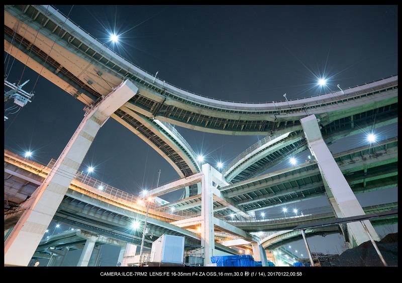 大阪北港ジャンクション夜景5.jpg