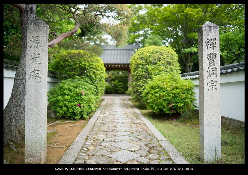 絶景京都・旅行記画像・春の新緑源光庵の丸窓5月2.jpg