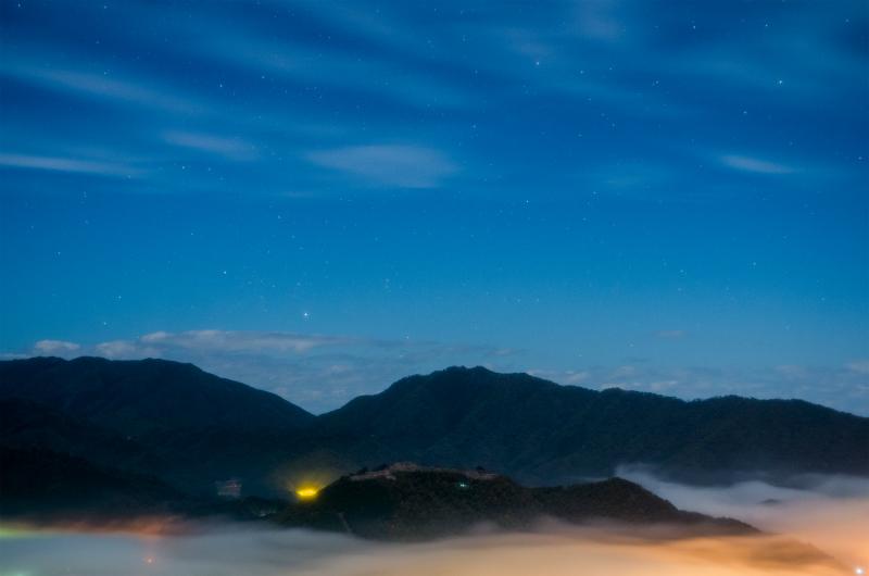 関西兵庫絶景雲海の竹田城夜景朝景5.jpg